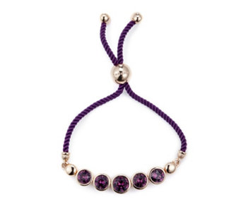 Fashion jewellery qvcuk aurora swarovski crystal faceted friendship bracelet 302055 aloadofball Gallery
