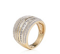 1.00ct Diamond Cocktail Band Ring 9ct Gold - 340855