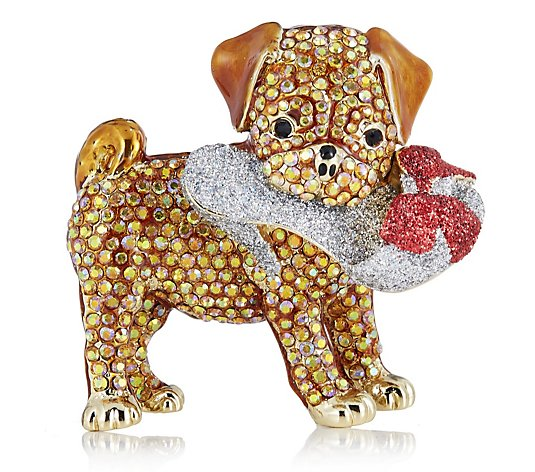 Butler & Wilson Puppy with Shoe Brooch