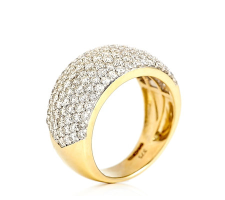 2.00ct Diamond Dazzling Pave Band Ring 9ct Gold