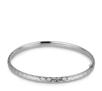6a12919abc1f 9ct Gold Diamond Cut Tube Flexi Bangle - 341456