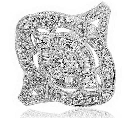 0.50ct Diamond Estate Collection Shield Ring 9ct Gold