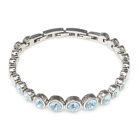Outlet Aurora Swarovski Crystal Tennis Bracelet with Adjustable ...
