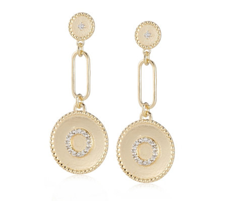 K by Kelly Hoppen Drop Earring with Pave Circles