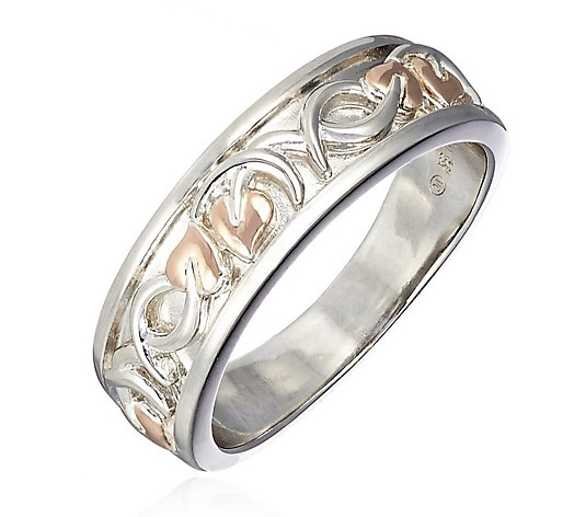 Clogau 9ct Rose Gold & Sterling Silver Dathlu Tree of Life Ring