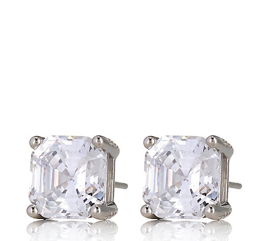 Michelle Mone for Diamonique 5ct tw Platinum Plated Earrings Sterling Silver