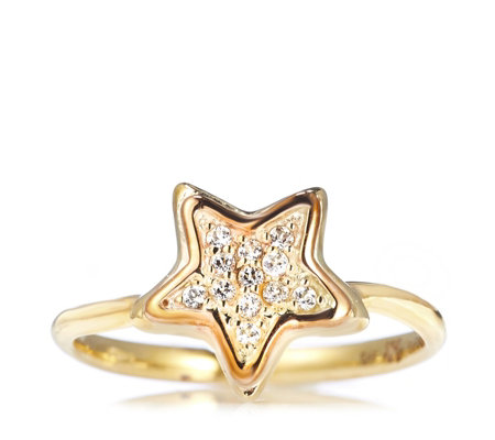 Clogau 9ct Gold David Emanuel Swarovski Topaz Star Ring