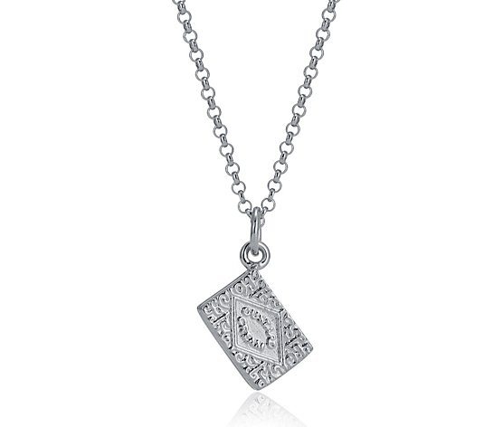 Lily Charmed Custard Cream Pendant 45cm Necklace Sterling Silver