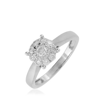 0.50ct Diamond Cluster Ring 9ct Gold