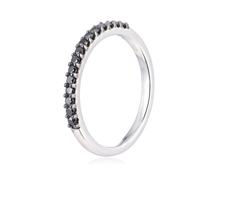 0.25ct Treated Diamond Eternity Ring Sterling Silver