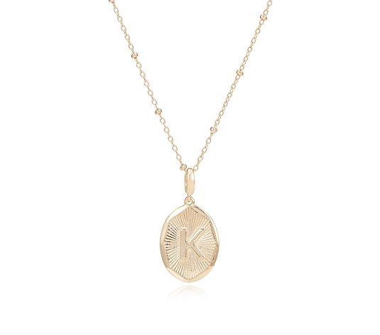 K by Kelly Hoppen Starburst Initial Pendant with Beaded Chain