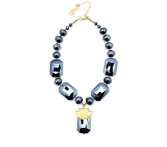 Butler & Wilson Glass Y Shape 43cm Necklace