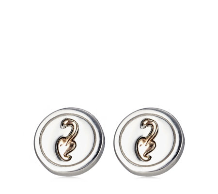 Clogau 9ct Rose Gold & Sterling Silver Insignia Stud Earrings