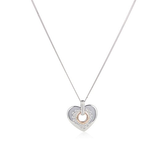 Clogau Cariad Sparkle 55.8cm Necklace Sterling Silver & 9ct Gold