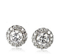 0.50ct Diamond Round Halo Stud Earrings 9ct White Gold - 340861