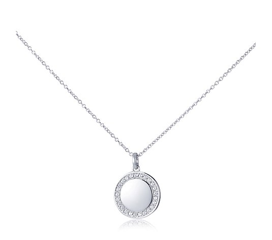 Diamonique 0.38ct tw She Believed Necklace Sterling Silver