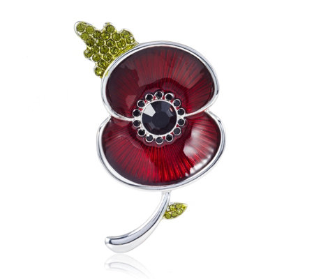 The Poppy Collection Enamel Sparkle Brooch