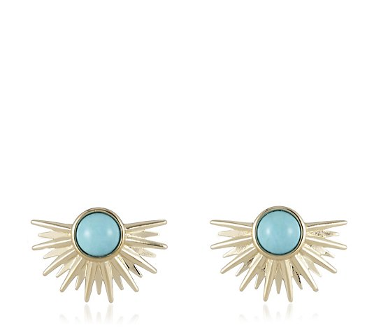 Lola Rose Curio Celestial Half Sunburst Stud Earrings
