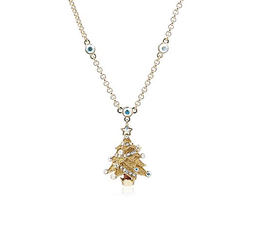 Butler & Wilson Christmas Tree 42cm Necklace