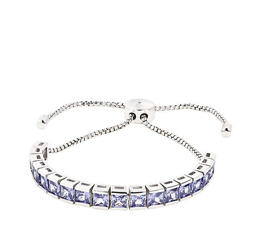 Diamonique 9ct tw Friendship Bracelet Sterling Silver