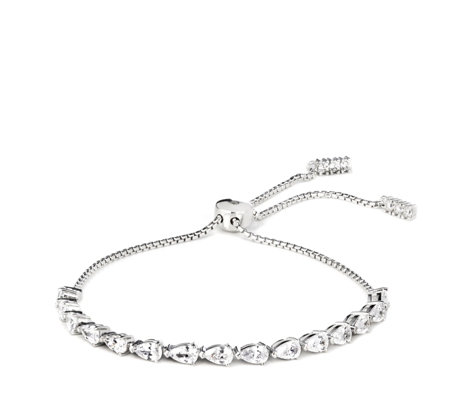 Diamonique 4ct tw Friendship Bracelet Sterling Silver