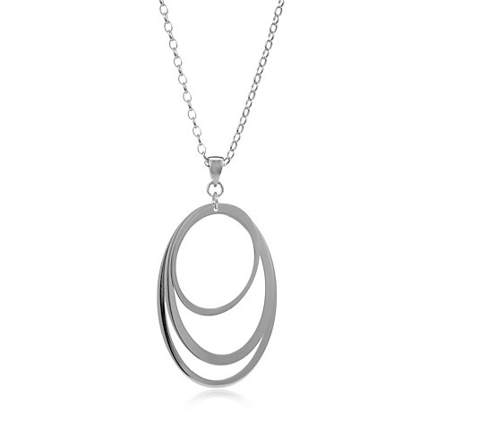 Bronzo Italia Polished Oval Multi Hoop Pendant