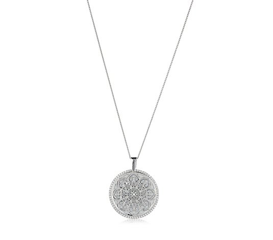 Diamonique 2ct tw Lux Vue Pendant & Chain