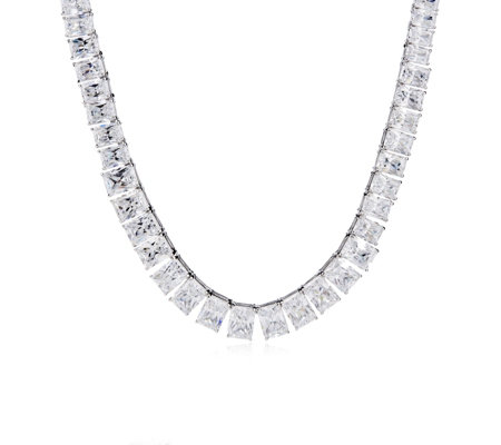 Michelle Mone for Diamonique 60ct tw Tennis Necklace Sterling Silver