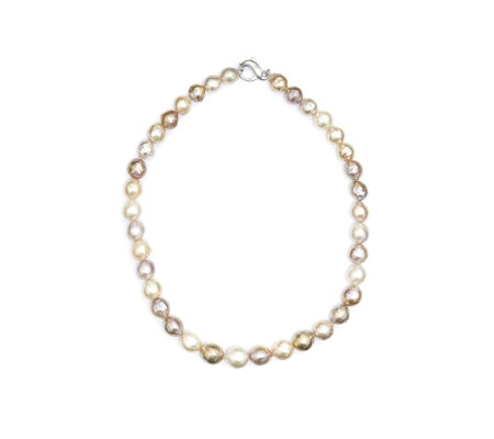 Honora 11-14mm Graduated Ming Pearl 50cm Necklace Sterling Silver