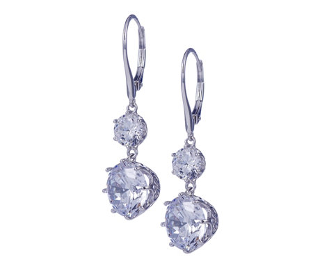 Michelle Mone for Diamonique 9.4ct tw Leverback Earrings Sterling Silver