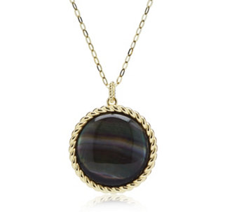 Bestsellers qvc uk honora 25mm mother of pearl pendant 90cm chain bronze 310365 aloadofball Gallery