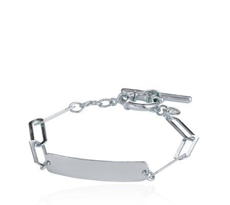 K By Kelly Hoppen Capri Geometric Hero 19cm Bracelet Sterling Silver
