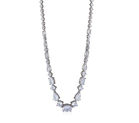 Michelle Mone for Diamonique 23ct tw Mixed Cut 40cm Necklace Sterling Silver