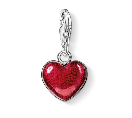 Thomas Sabo Charm Club Large Red Heart Charm Pendant Sterling Silver