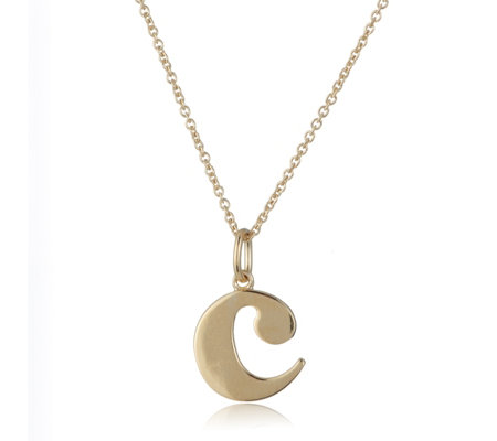 Ophia Initial Pendant 45cm Chain Gold Plated Sterling Silver