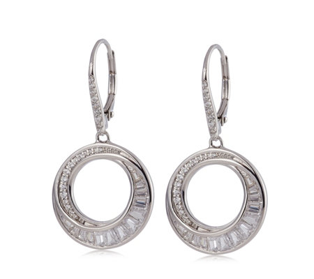Diamonique 1.6ct tw 25th Anniversary Entwining Earrings Sterling Silver