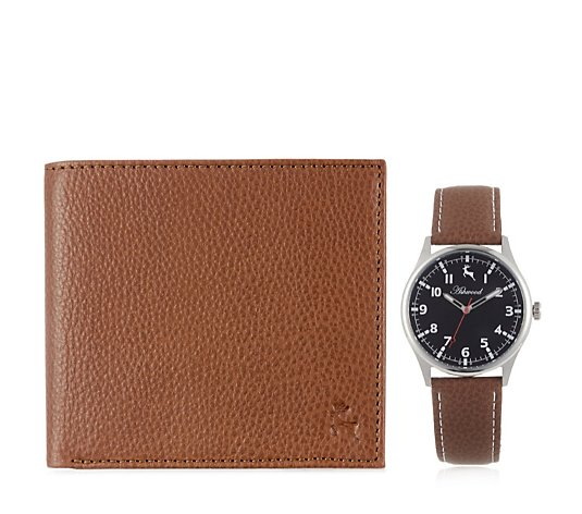 Ashwood Mens Leather Watch w/ Matching Wallet Set