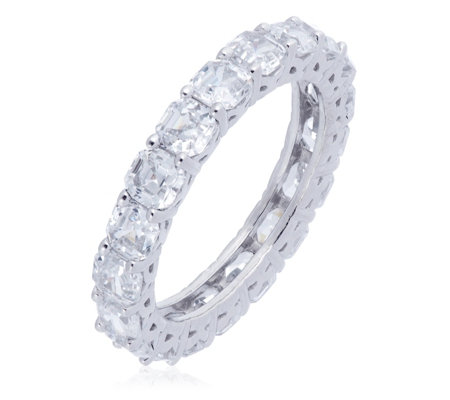 Michelle Mone for Diamonique 4.8ct tw Platinum Plated Ring Sterling Silver