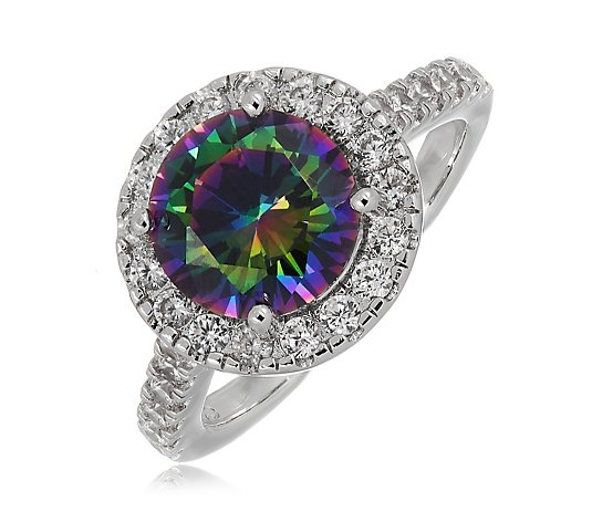 Diamonique 3.5ct tw Simulated Alexandrite Ring Sterling Silver