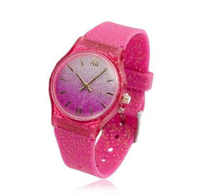 Ophia Glitter Ball Silicone Watch