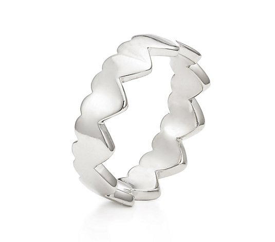 Bronzo Italia Heart Band Ring