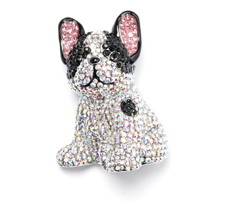 Butler & Wilson Crystal Dog Brooch