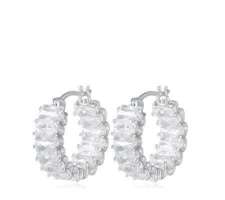 Outlet Diamonique 5ct tw Radiant Cut Ultimate Glamour Earrings Sterling Silver
