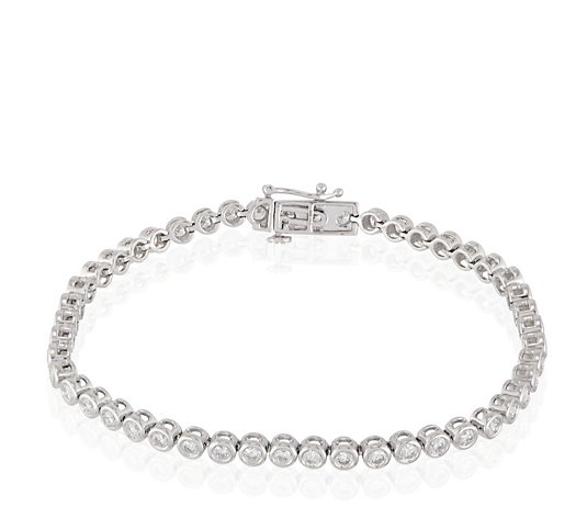 3.00ct Certified Diamond Tennis 19cm Bracelet 9ct Gold