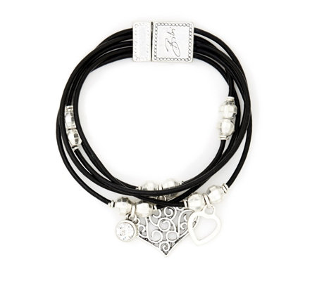 Bibi Bijoux Leather Charm Bracelet
