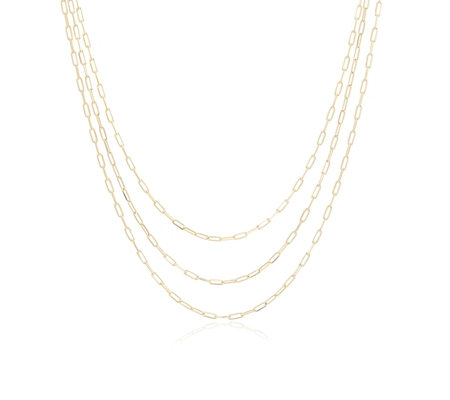 Bronzo Italia Triple Strand 45cm Necklace