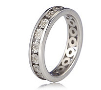 0.10ct Diamond Full Eternity Band Ring Sterling Silver - 340269