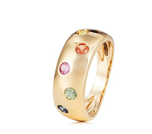 0.60ct Multi Sapphire Band Ring 9ct Gold