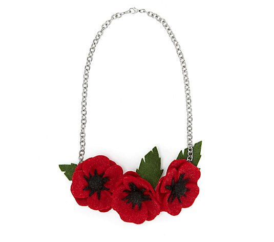 The Poppy Collection Fabric Necklace by One Button