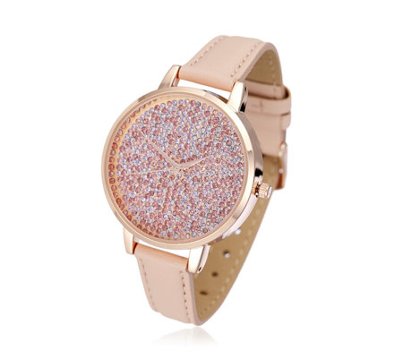 Ophia Pave Dial Strap Watch